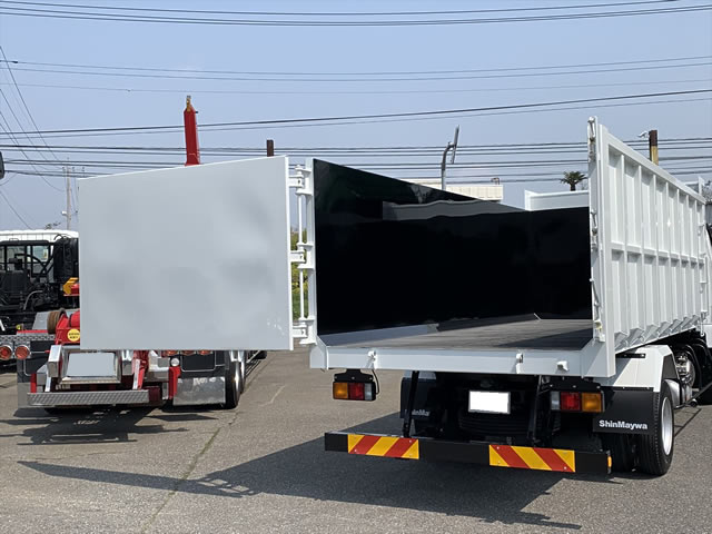 三菱 ファイター 中型 ダンプ 土砂禁 ベッド|トラック 背面・荷台画像 トラック市掲載