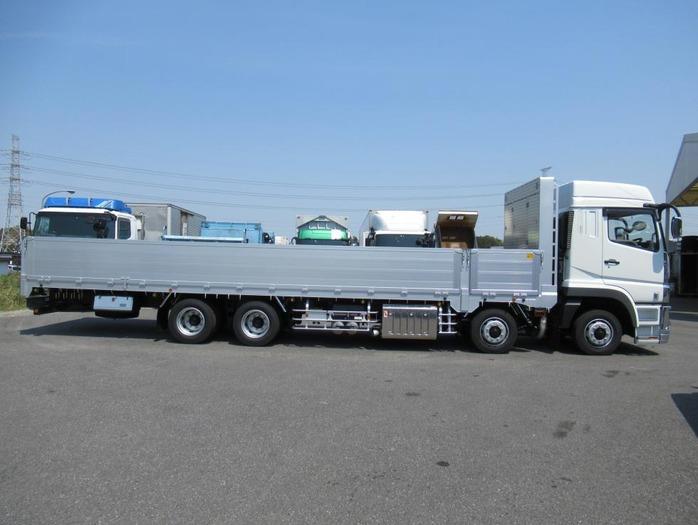三菱 スーパーグレート 大型 平ボディ ハイルーフ アルミブロック トラック 右後画像 リトラス掲載