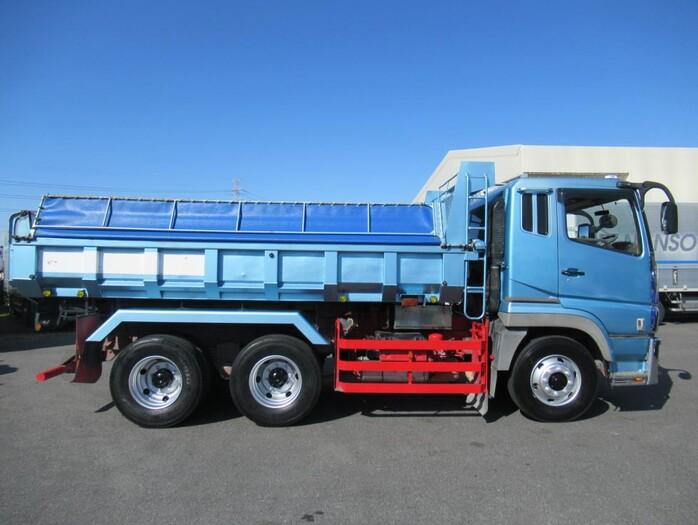 三菱 スーパーグレート 大型 ダンプ コボレーン ベッド トラック 右後画像 リトラス掲載