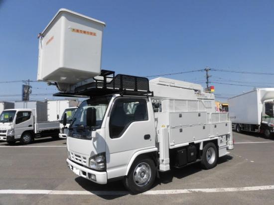 いすゞ エルフ 小型 高所・建柱車 高所作業車 PB-NKR81N|トラック 左前画像 トラックバンク掲載