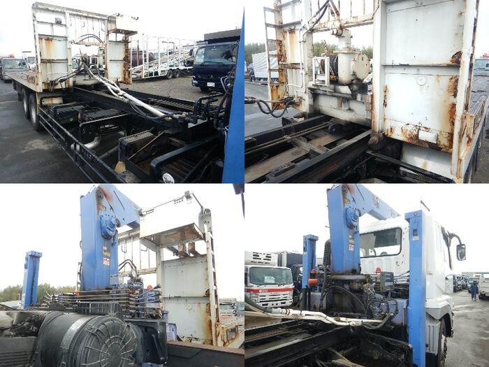 三菱 スーパーグレート 大型 車輌重機運搬 4段クレーン ラジコン|駆動方式 6x4 トラック 画像 リトラス掲載