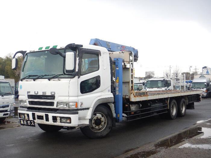 三菱 スーパーグレート 大型 車輌重機運搬 4段クレーン ラジコン|トラック 左前画像 トラックバンク掲載