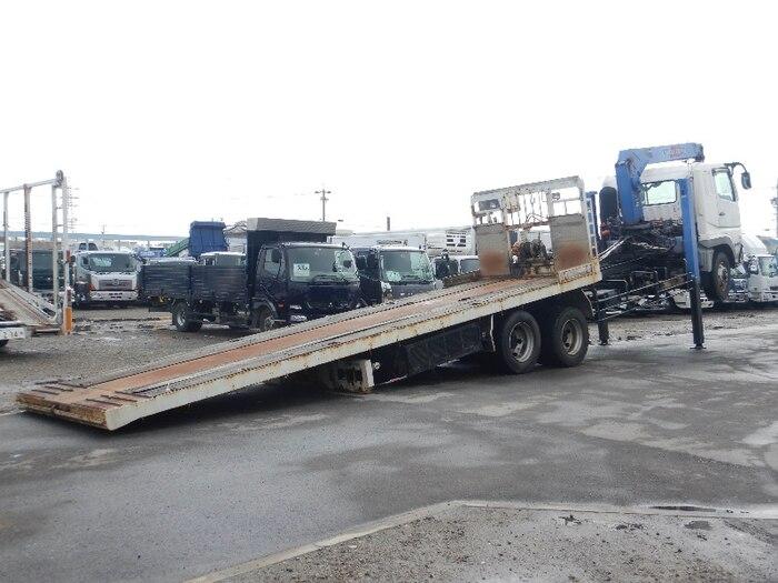 三菱 スーパーグレート 大型 車輌重機運搬 4段クレーン ラジコン|トラック 背面・荷台画像 トラック市掲載