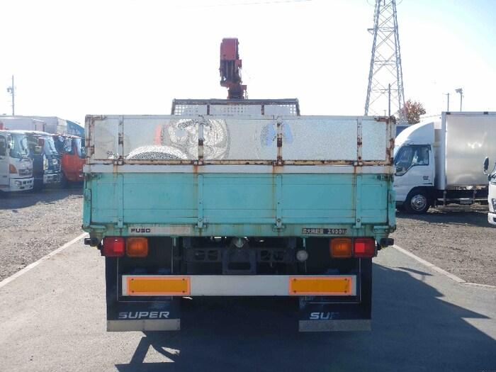 三菱 ファイター 中型 クレーン付 床鉄板 4段 トラック 背面・荷台画像 トラック市掲載