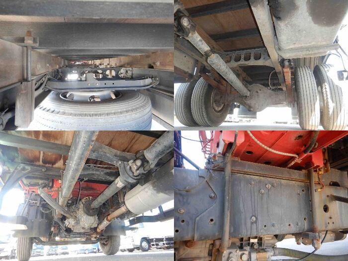 三菱 ファイター 中型 クレーン付 床鉄板 4段 架装 ユニック トラック 画像 トラックバンク掲載
