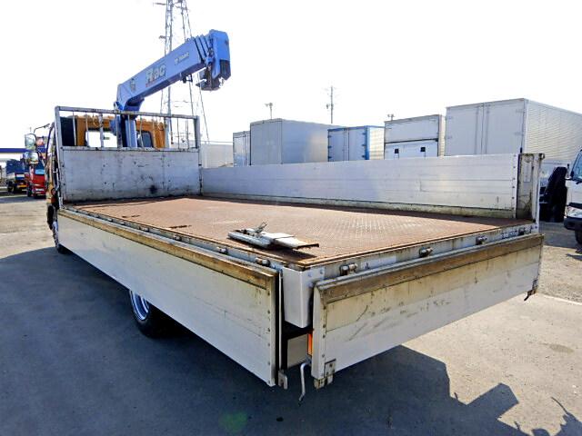 三菱 ファイター 中型 クレーン付 床鉄板 アルミブロック|運転席 トラック 画像 トラック王国掲載