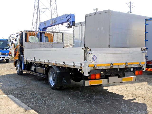 三菱 ファイター 中型 クレーン付 床鉄板 アルミブロック|トラック 右後画像 リトラス掲載