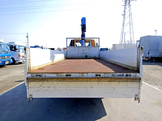 三菱 ファイター 中型 クレーン付 床鉄板 アルミブロック|トラック 背面・荷台画像 トラック市掲載