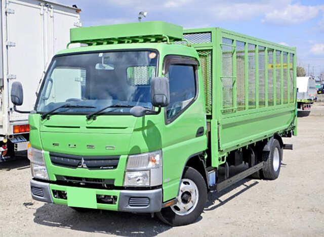 三菱 キャンター 小型 平ボディ 床鉄板 SKG-FEA20|トラック 左前画像 トラックバンク掲載