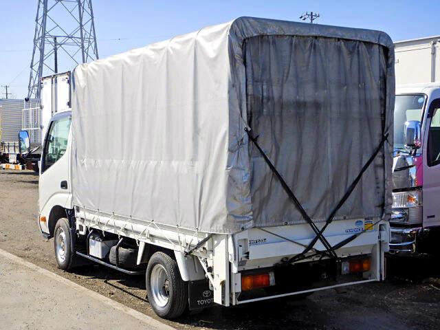 トヨタ トヨエース 小型 平ボディ 幌 パワーゲート|トラック 右後画像 リトラス掲載