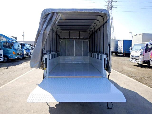 トヨタ トヨエース 小型 平ボディ 幌 パワーゲート|トラック 背面・荷台画像 トラック市掲載