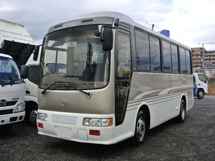 トヨタ コースター 小型 バス マイクロバス KK-RX4JFET|トラック 左前画像 トラックバンク掲載