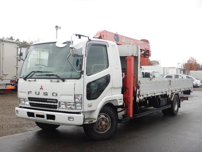 三菱 ファイター 中型 車輌重機運搬 6段クレーン ラジコン|トラック 左前画像 トラックバンク掲載