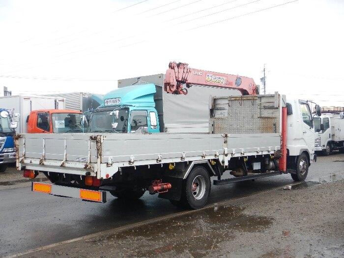 三菱 ファイター 中型 車輌重機運搬 6段クレーン ラジコン|トラック 背面・荷台画像 トラック市掲載