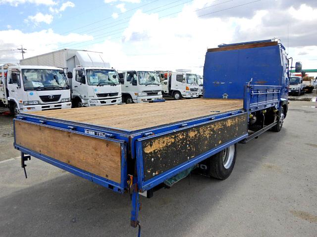 日野 レンジャー 中型 平ボディ 床鉄板 ベッド|トラック 右後画像 リトラス掲載