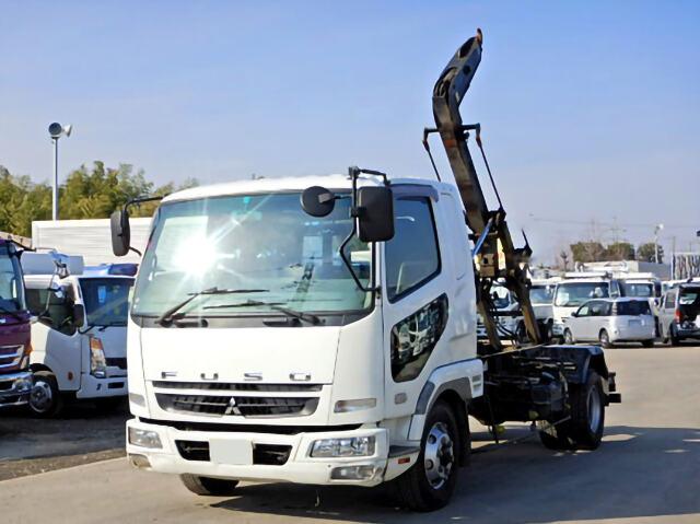三菱 ファイター 中型 アームロール ツインホイスト ベッド|トラック 左前画像 トラックバンク掲載