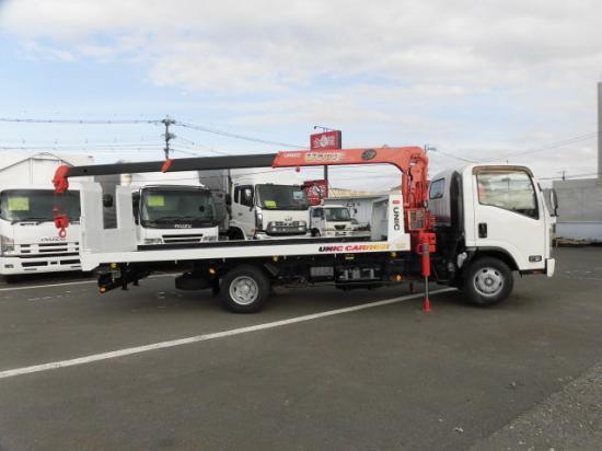 いすゞ エルフ 小型 車輌重機運搬 3段クレーン ラジコン|走行距離 24.7万km トラック 画像 トラックランド掲載