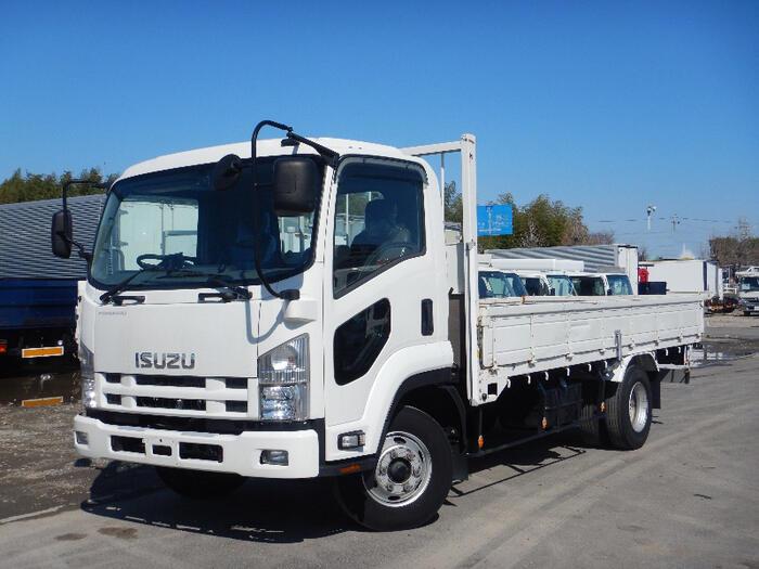 いすゞ フォワード 中型 平ボディ 床鉄板 PKG-FRR90S2|トラック 左前画像 トラックバンク掲載