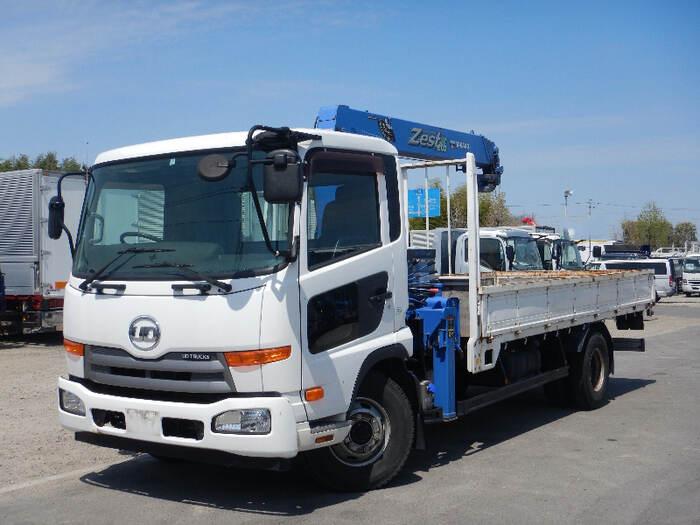日産UD コンドル 中型 クレーン付 4段 フックイン トラック 左前画像 トラックバンク掲載