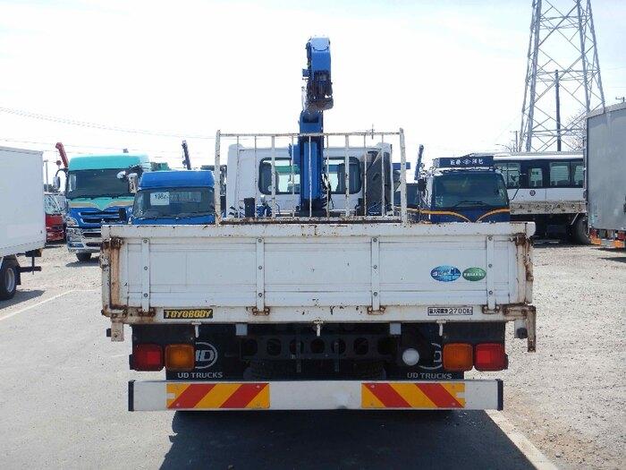 日産UD コンドル 中型 クレーン付 4段 フックイン トラック 背面・荷台画像 トラック市掲載