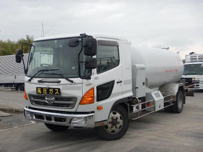 日野 レンジャー 中型 タンク車 ローリー BDG-GX7JKWA トラック 左前画像 トラックバンク掲載