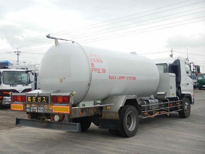 日野 レンジャー 中型 タンク車 ローリー BDG-GX7JKWA トラック 右後画像 リトラス掲載