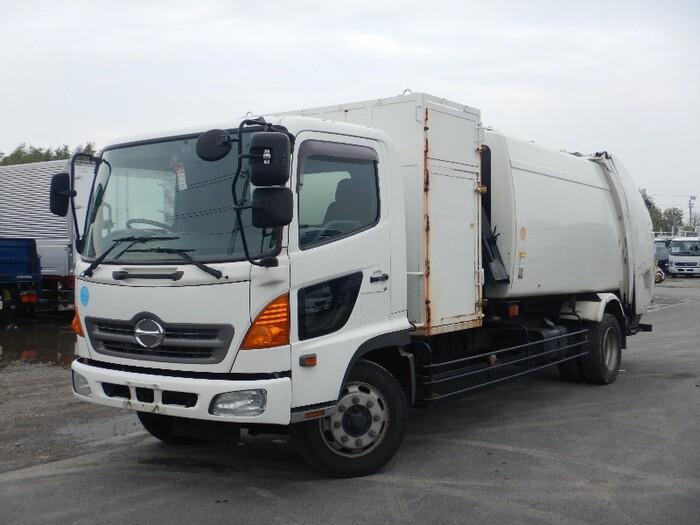 日野 レンジャー 中型 パッカー車 プレス式 BKG-GC7JLYA|トラック 左前画像 トラックバンク掲載