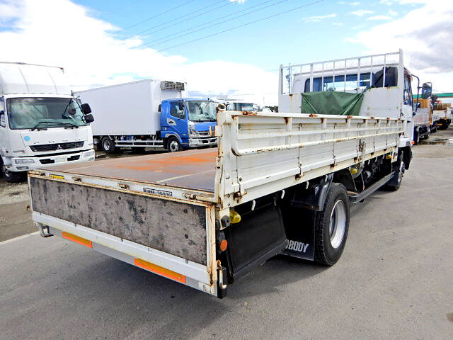 日産UD コンドル 中型 平ボディ 床鉄板 ベッド|トラック 右後画像 リトラス掲載