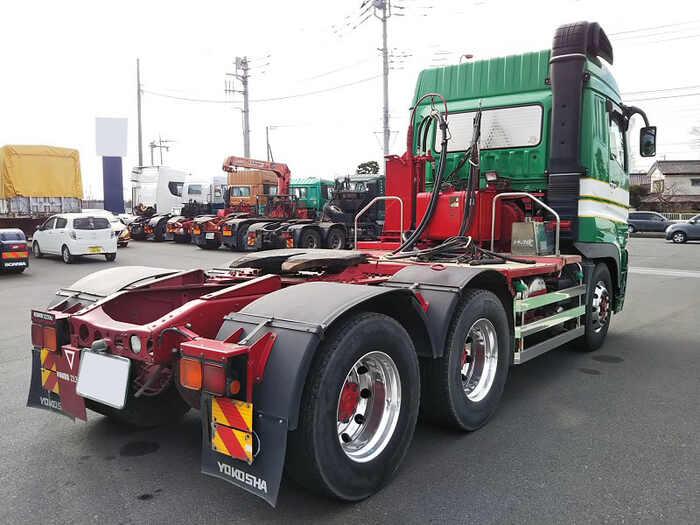 三菱 スーパーグレート 大型 トラクタ ハイルーフ 2デフ|トラック 右後画像 リトラス掲載