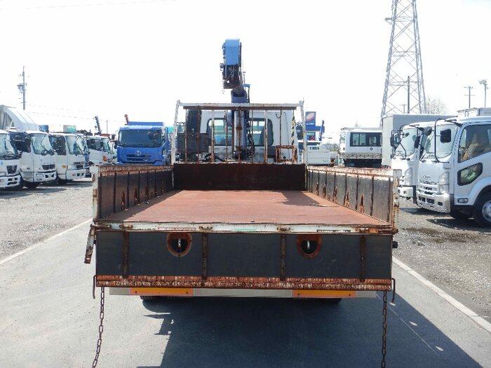 三菱 ファイター 中型 クレーン付 床鉄板 3段|荷台 床の状態 トラック 画像 トラックサミット掲載