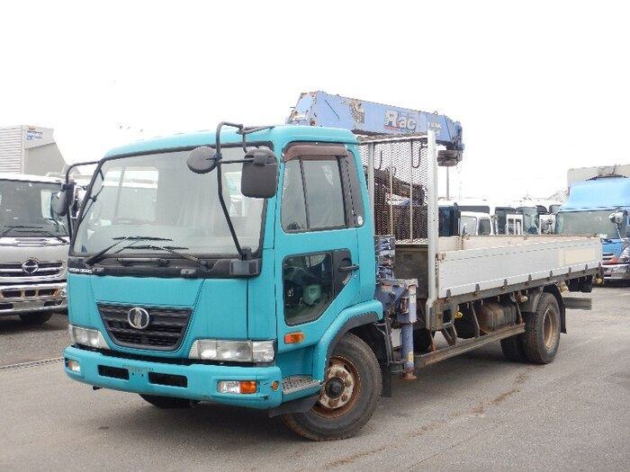 日産UD コンドル 中型 クレーン付 床鉄板 アルミブロック|トラック 左前画像 トラックバンク掲載