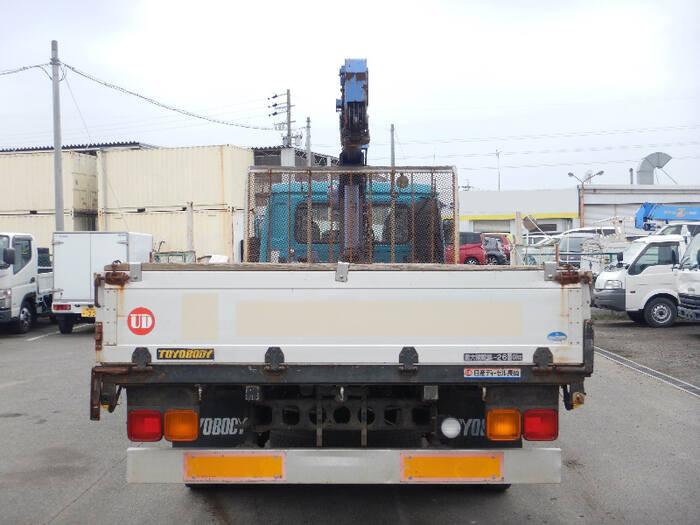 日産UD コンドル 中型 クレーン付 床鉄板 アルミブロック|トラック 背面・荷台画像 トラック市掲載
