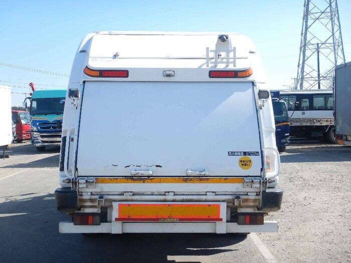 日産UD コンドル 中型 パッカー車 プレス式 ベッド|トラック 背面・荷台画像 トラック市掲載