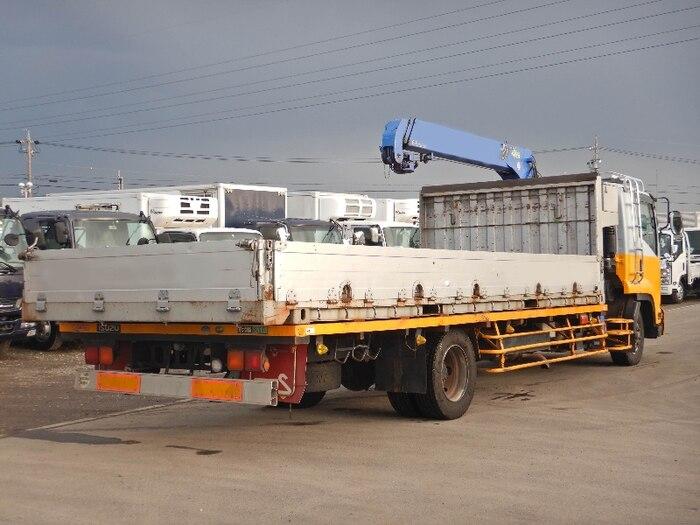 いすゞ フォワード 中型 クレーン付 アルミブロック 3段 トラック 右後画像 リトラス掲載