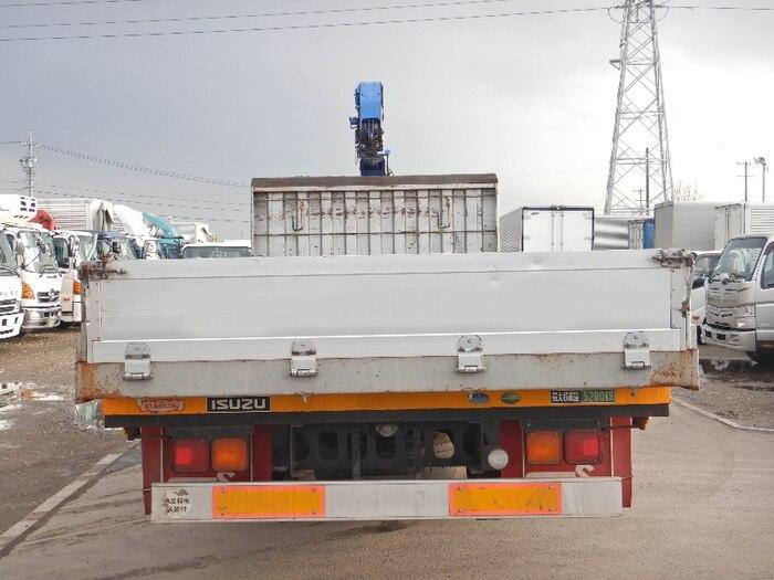 いすゞ フォワード 中型 クレーン付 アルミブロック 3段 トラック 背面・荷台画像 トラック市掲載
