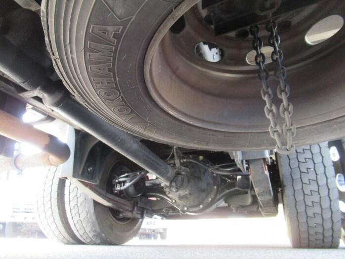 三菱 ファイター 中型 ウイング エアサス ベッド|コーションプレート トラック 画像 リトラス掲載