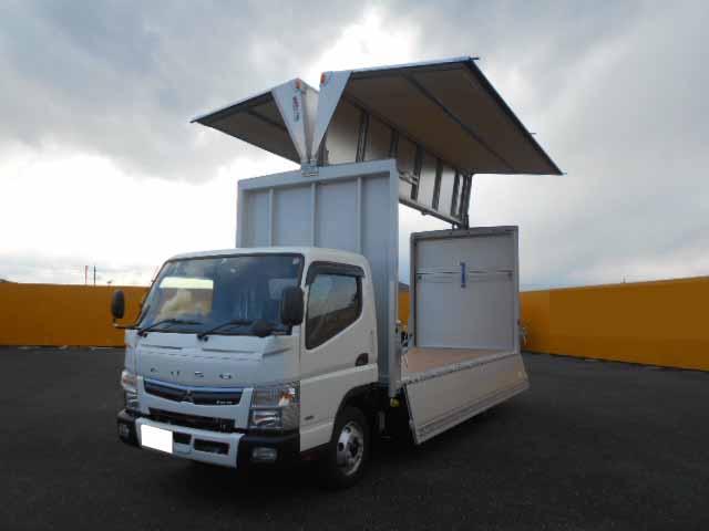 三菱 キャンター 小型 ウイング パワーゲート 2PG-FEB80|トラック 背面・荷台画像 トラック市掲載