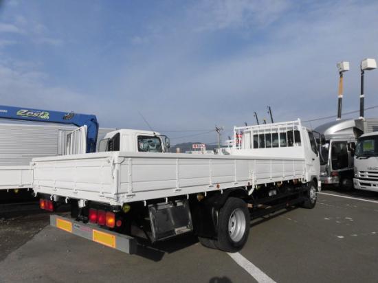 三菱 ファイター 中型 平ボディ ベッド PDG-FK62FZ|トラック 右後画像 リトラス掲載