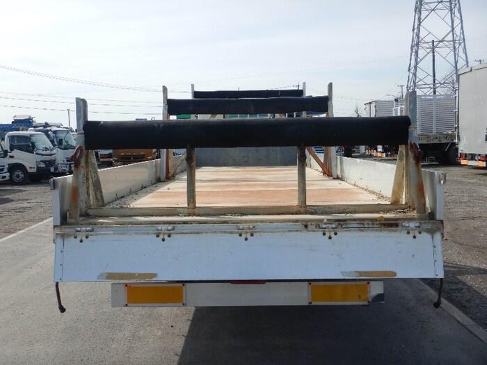 日野 レンジャー 中型 平ボディ 床鉄板 アルミブロック|トラック 背面・荷台画像 トラック市掲載