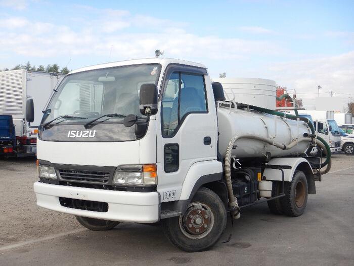 いすゞ フォワード 中型 タンク車 バキューム PB-NRR35C3|トラック 左前画像 トラックバンク掲載