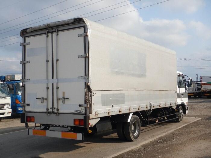 日産UD コンドル 中型 ウイング 幌ウイング ベッド|トラック 右後画像 リトラス掲載