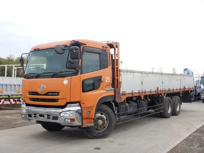 日産UD クオン 大型 平ボディ 床鉄板 アルミブロック|トラック 左前画像 トラックバンク掲載