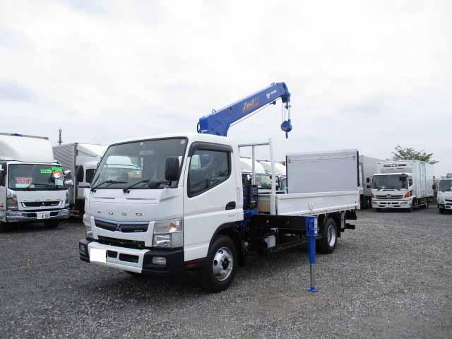 三菱 キャンター 小型 クレーン付 パワーゲート 4段|トラック 背面・荷台画像 トラック市掲載