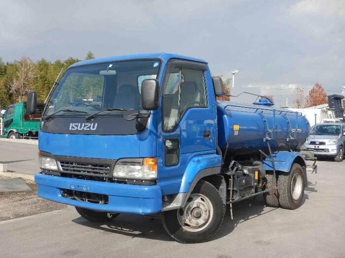 いすゞ フォワード 中型 タンク車 バキューム KK-NRR35C3|トラック 左前画像 トラックバンク掲載