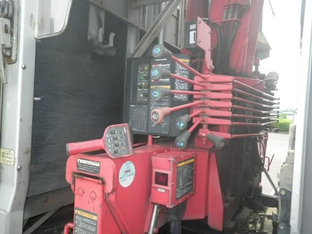 三菱 ファイター 中型 クレーン付 床鉄板 アルミブロック|画像6