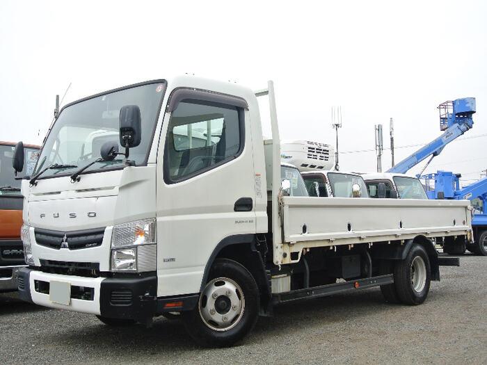 三菱 キャンター 小型 平ボディ TKG-FEB20 H27|トラック 左前画像 トラックバンク掲載