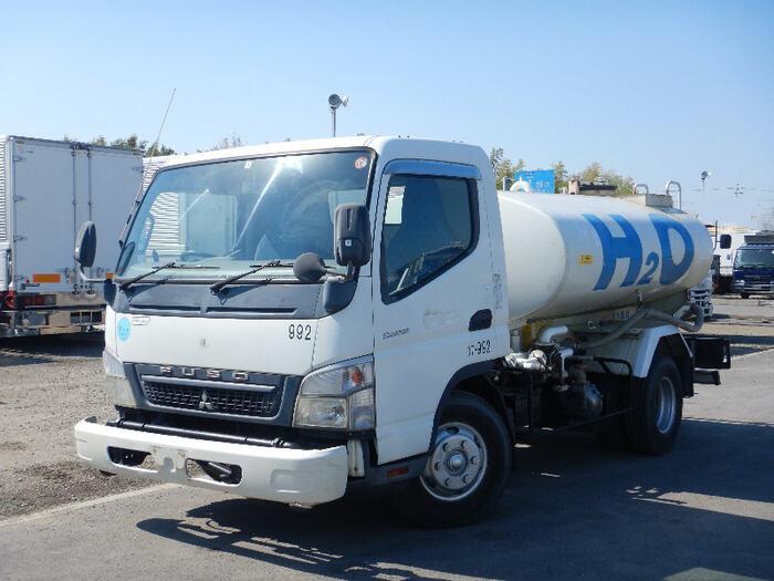 三菱 キャンター 小型 タンク車 散水車 PDG-FE83DY|トラック 左前画像 トラックバンク掲載
