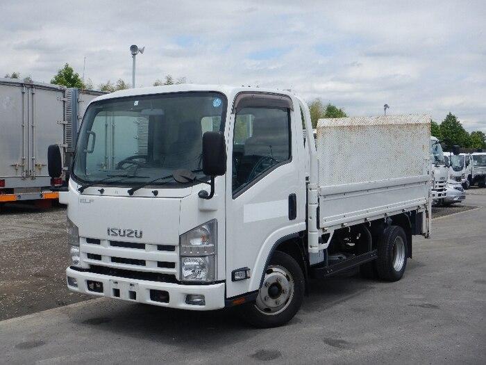いすゞ エルフ 小型 平ボディ パワーゲート SKG-NMR85R トラック 左前画像 トラックバンク掲載