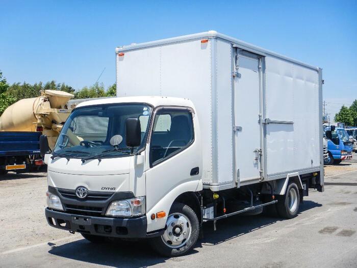 トヨタ ダイナ 小型 アルミバン パワーゲート サイドドア|トラック 左前画像 トラックバンク掲載