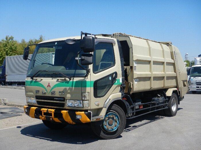 三菱 ファイター 中型 パッカー車 プレス式 KK-FK71HGY 画像1
